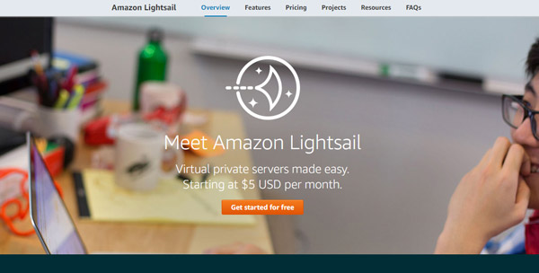 Lightsail cloud hosting AWS
